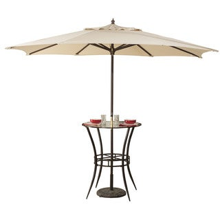 Hillsdale Black Metal and Glass Indoor/Outdoor Bar-height Bistro Table