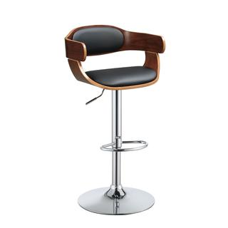 Acme Furniture Camellia Black/Brown Metal/Wood Adjustable Swivel Stool