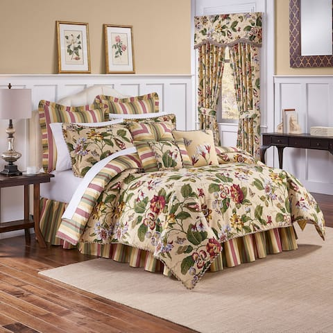 Waverly Laurel Springs King 100% Cotton 4-piece Comforter Set - Green