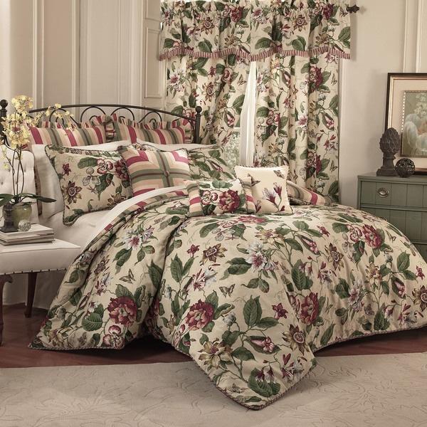 Waverly Laurel Springs King 100% Cotton 4-piece Comforter Set