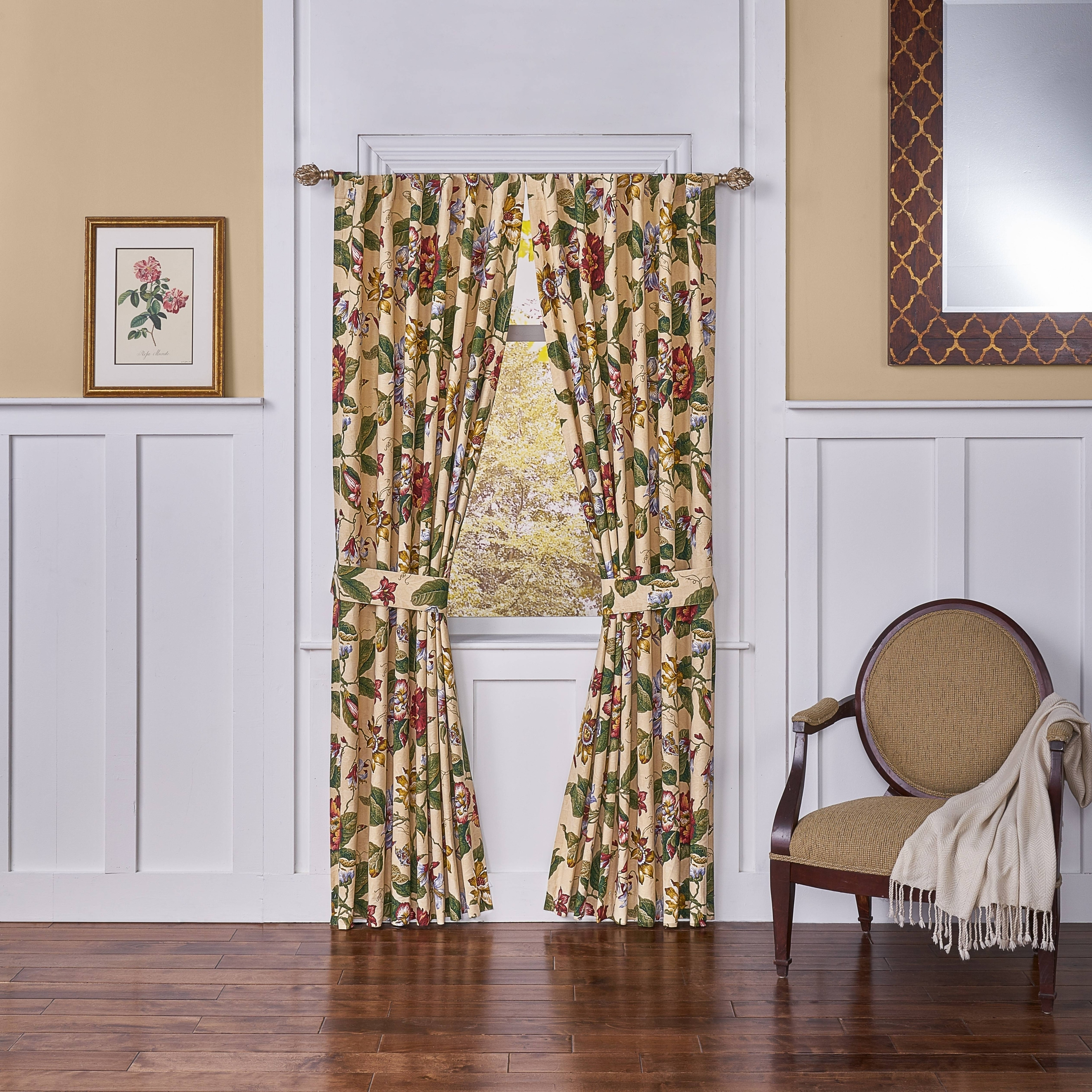 Waverly Laurel Springs Lined Curtain Panel Pair (100x84, ...