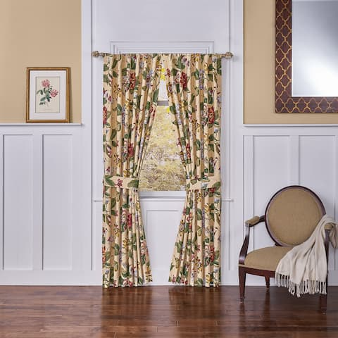 Waverly Laurel Springs Lined Curtain Panel Pair 100x84