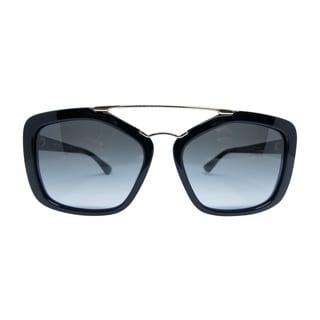 Prada SPR 24R 1AB-0A7 Unisex Black Frame Grey lenses sunglasses