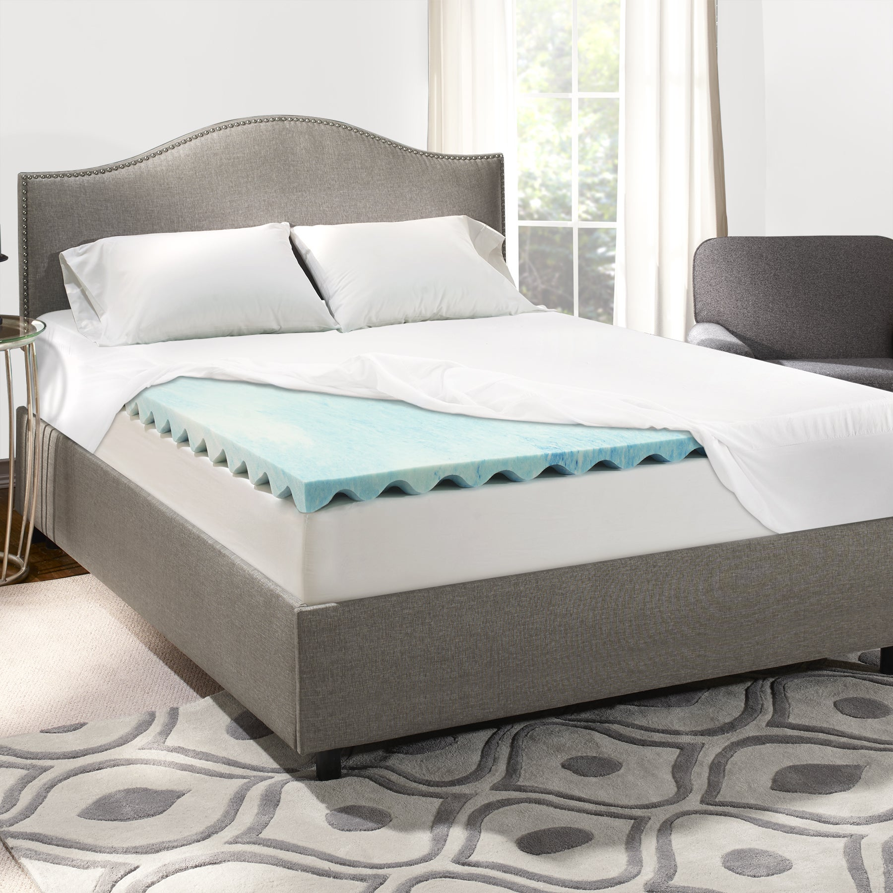 Shop Sleep Innovations 3 Inch Swirl Gel Memory Foam Mattress
