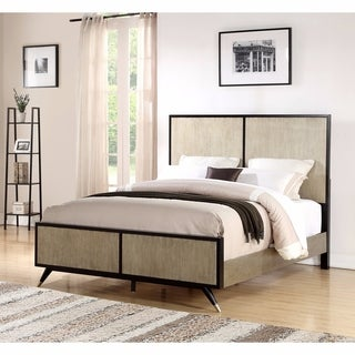 Abbyson Black/Gold Mid-Century Style Bed