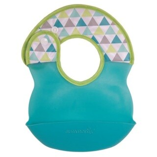 Summer Infant Deluxe Bibbity Rinse And Roll Bib - Teal