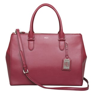 Ralph Lauren Winford Double Zip Satchel Handbag