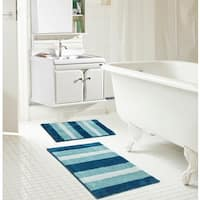 RT Designers Collection Ombre Microfiber 2-piece Bath Rug Set