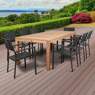 Amazonia Oscar 9 Piece Rectangular Patio Dining Set