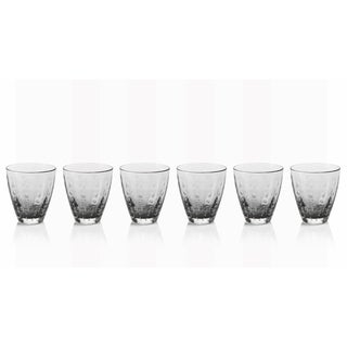 6-Piece Bubbled Rocks Glass Set