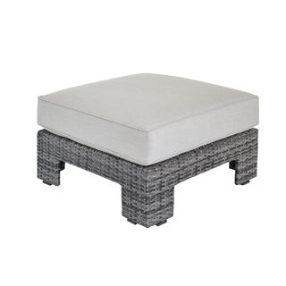 Madison Park Lenox Dark Grey/ Grey Outdoor Ottoman