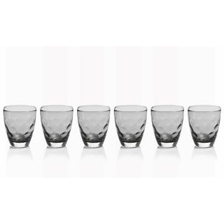 """Dimpled Glass"" Rock Glass, Smoke (Set of 6)"