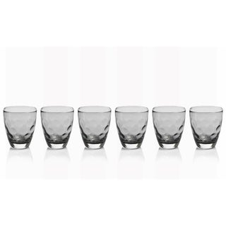 6-Piece Dimpled Rocks Glass Set
