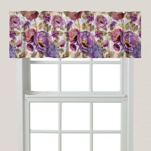 Laural Home Blue and Purple Florals Window Valance