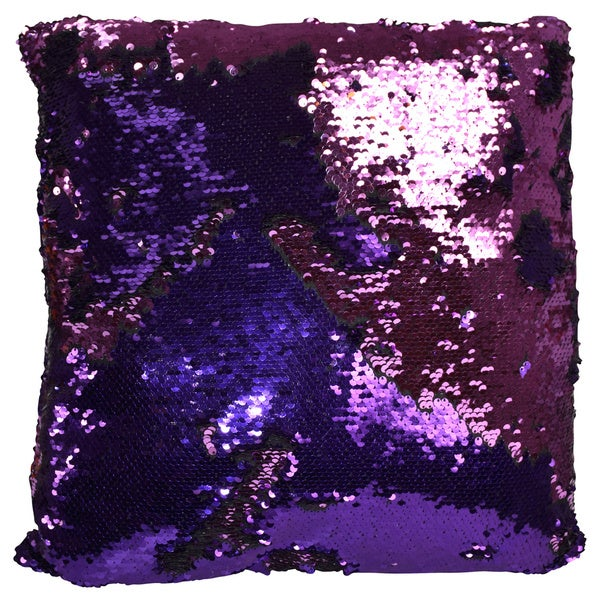 peach couture reversible sequin color changing accent throw pillows - Color Changing Pillow