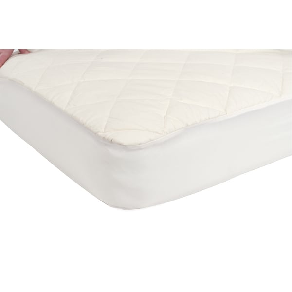 Shop Sealy Quilted Fitted Crib Mattress Pad With Organic