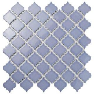 SomerTile 12.375x12.5-inch Antaeus Lavender Porcelain Mosaic Floor and Wall Tile (10 tiles/10.7 sqft.)