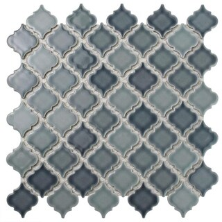 SomerTile 12.375x12.5-inch Antaeus Stillwater Porcelain Mosaic Floor and Wall Tile (10/Case, 10.7 sqft.)