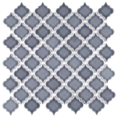 SomerTile 12.375x12.5-inch Antaeus Imperial Grey Porcelain Mosaic Floor and Wall Tile (10/Case, 10.7 sqft.)