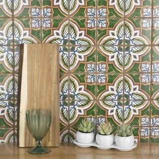 SomerTile 11.75x11.75-inch Harmony Regent Stelenes Porcelain Mosaic Floor and Wall Tile (10 tiles/9.79 sqft.)