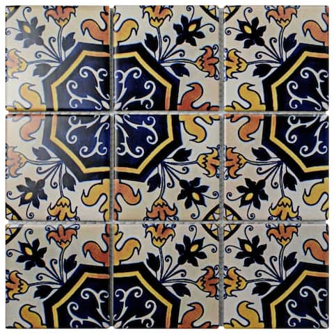 SomerTile 11.75x11.75-inch Harmony Regent Delias Porcelain Mosaic Floor and Wall Tile (10 tiles/9.79 sqft.)