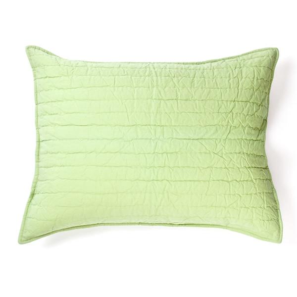 Brighton Cotton Sham, Light Green