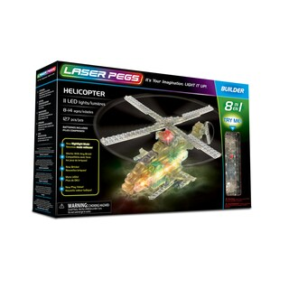 Laser Pegs Helicopter 8-in-1 Building Set
