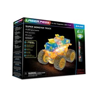 Laser Pegs Super Monster Truck 6-in-1 Building Set