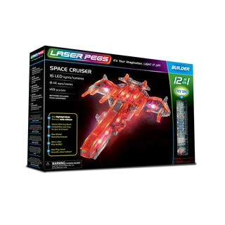 Laser Pegs Space Cruiser 12-in-1 Building Set