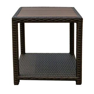 American Patio - All Weather Wicker - Espresso - Modern - Outdoor End Table