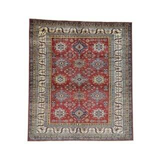 1800GetARug Super Kazak Red Wool Hand-knotted Geometric-design Oriental Rug (8'0 x 9'1)