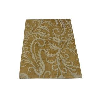 "1800getarug Hand-Knotted Wool and Silk Tone-on-Tone Modern Nepali Rug (2'0""x2'9"")"