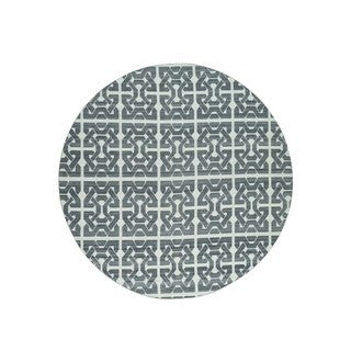 """Shahbanu Rugs Flat Weave Reversible Hand-Knotted Durie Kilim Round Rug (9'10""""x9'10"""")"""