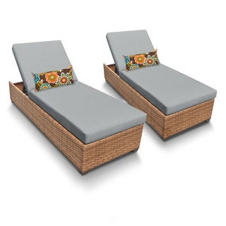 Outdoor Home Bayou 2-piece Outdoor Patio Wicker Chaise Lounge