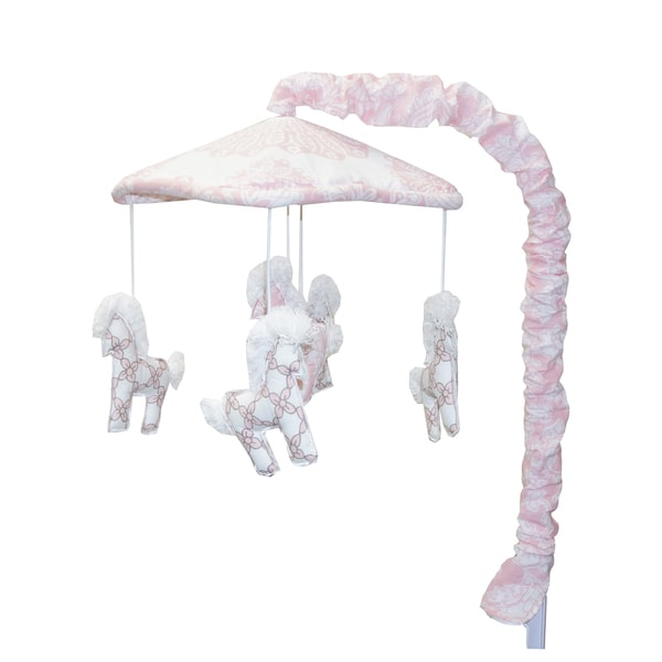 Cotton Tale Sweet and Simple Pink Musical Mobile