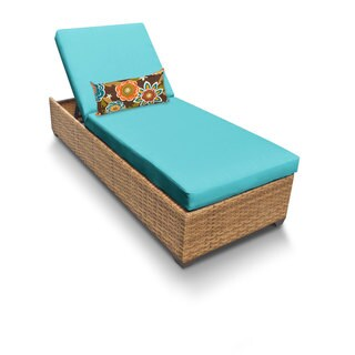 Outdoor Home Bayou Wicker Outdoor Patio Chaise Lounge