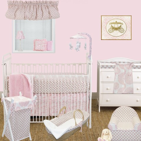 Cotton Tale Sweet and Simple Pink 7-piece Crib Bedding Set