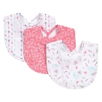Trend Lab Fox and Feathers 3 Pack Bib Set
