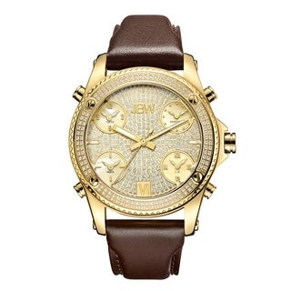 JBW Men's J6354A Jet Setter 1.36 ctw 18k gold-plated stainless-steel Diamond Watch
