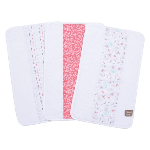 Trend Lab Fox and Feathers 3 Pack Jumbo Burp Cloth Set
