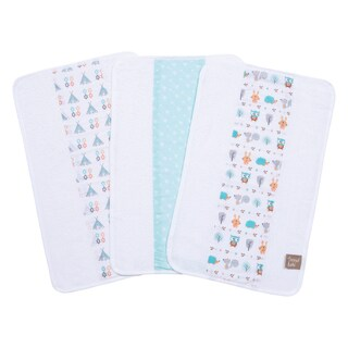 Trend Lab Forest Babies 3 Pack Jumbo Burp Cloth Set