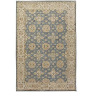 Arshs Fine Rugs Kafkaz Peshawar Jame Grey/Tan Wool Hand-knotted Area Rug (4' x 5'10)