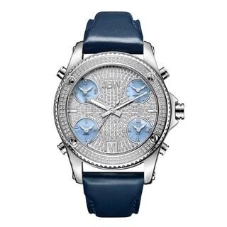 JBW Men's J6354B Jet Setter 1.36 ctw Stainless Steel Diamond Watch - Silver