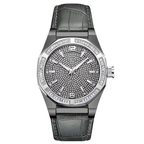 JBW Men's Apollo.10 ctw Gun Metal-Plated Stainless Steel Diamond Watch - grey