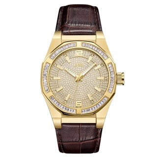JBW Men's J6350B Apollo 0.10 ctw 18k gold-plated stainless-steel Diamond Watch