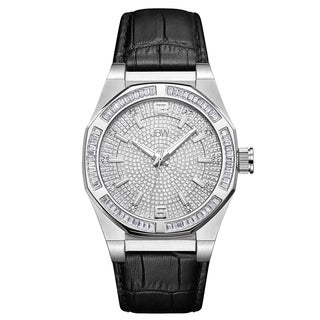JBW Men's Apollo.10 ctw Stainless Steel Diamond Watch - black
