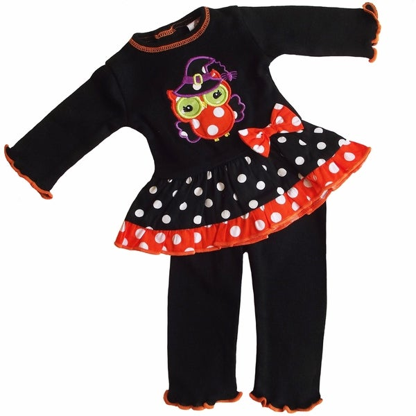 AnnLoren Halloween Witchy Owl 2 piece Outfit Fits 18-inch Dolls