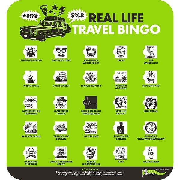 Real Life Travel Bingo