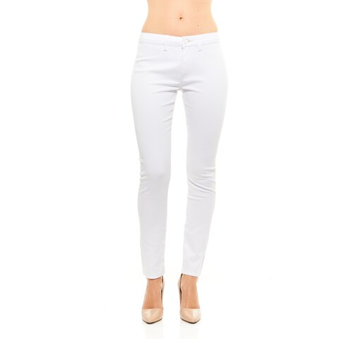 Red Jeans Women's Seamless Casual Mid Rise Stretchy Denim Pants