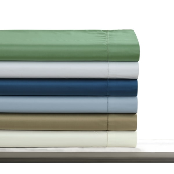 500 Thread Count Sateen Hemstitch Extra Deep Pocket Solid Sheet Set